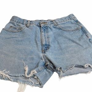 Vintage Hi Waist Member's Mark Cut Off Jean Shorts